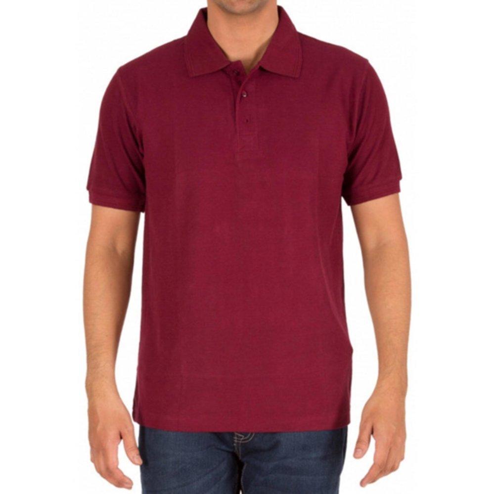 Jual Bssolo Polo Shirt Kaos Kerah Merah Maroon Maroon Murah